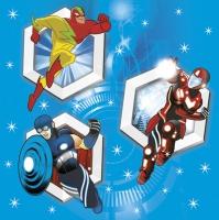 Servietten 33x33 cm - Super Heroes
