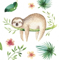 Servietten 33x33 cm - Positive Sloth