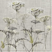 Servietten 33x33 cm - Achillea Sketch on a Linen Background