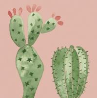 Servietten 33x33 cm - Watercolour Cactuses