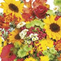 Servietten 33x33 cm - Rich Autumn Bouquet