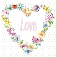 Servietten 33x33 cm - Blossom Love
