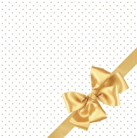 Servietten 33x33 cm - Golden Bow Elegance