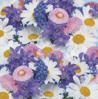 Servietten 33x33 cm - Frische Frühlingsblumen Hintergrund