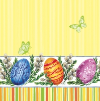 Servietten 33x33 cm - Easter Eggs & Catkins