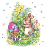 Lunch Servietten bunny with egg