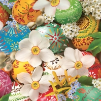 Servietten 33x33 cm - Easter Wallpaper