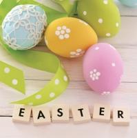 Servietten 33x33 cm - Pastel Easter Eggs