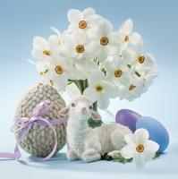 Servietten 33x33 cm - Lamb & Narcissus