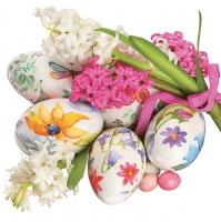 Lunch Servietten watercolour easter eggs