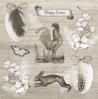 Servietten 33x33 cm - Vintage Happy Easter