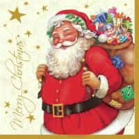 Servietten 33x33 cm - Santa Claus Cream