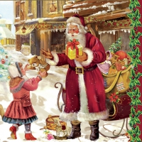 Lunch Servietten Santa with child