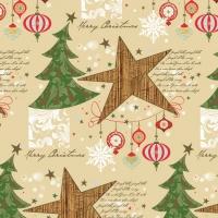 Servietten 33x33 cm - Weihnachtsbäume & Sterne