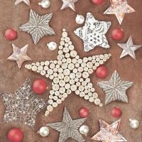 Servietten 33x33 cm - Christmas Crafted Stars