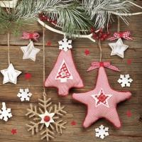 Servietten 33x33 cm - Handmade Christmas Decorations