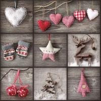 Servietten 33x33 cm - Collag Elementse von Weihnachten