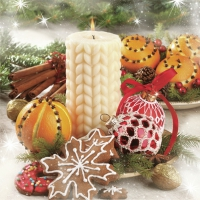 Servietten 33x33 cm - Plait Candle & Xmas Decorations