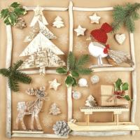 Servietten 33x33 cm - Winter Handmade Elements