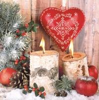 Servietten 33x33 cm - Warmes und gemütliches Weihnachtsfest