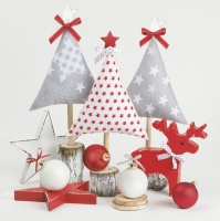 Servietten 33x33 cm - Xmas Trees Crafted with Cloth