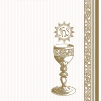 Servietten 33x33 cm - Holy Communion with Chalice