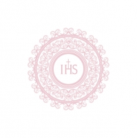 Servietten 33x33 cm - IHS Embroidery Design Pink