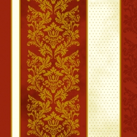 Servietten 33x33 cm - Classic Roccoco Red