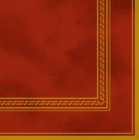 Servietten 33x33 cm - Red & Gold Frame