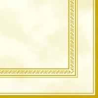 Servietten 33x33 cm - Cream & Gold Frame