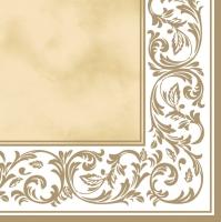 Servietten 33x33 cm - Rococo Pattern Ecru