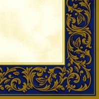 Servietten 33x33 cm - Rococo Pattern Blue