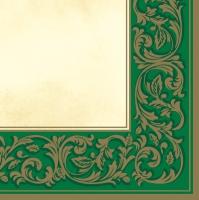 Servietten 33x33 cm - Rococo Pattern Green