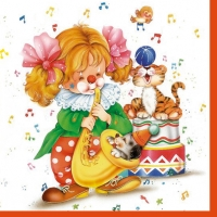 Lunch Servietten clown girl