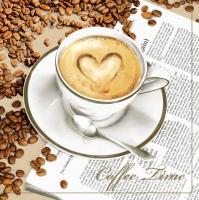 Servietten 33x33 cm - Coffee Time
