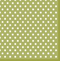 Servietten 33x33 cm - Green Dots