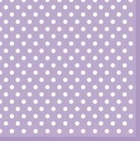 Servietten 33x33 cm - Lilac Dots