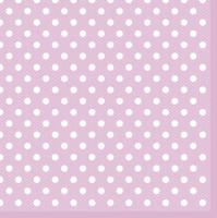 Servietten 33x33 cm - Pink Dots