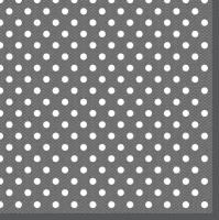 Servietten 33x33 cm - Graphite Dots