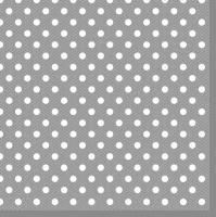 Servietten 33x33 cm - Grey Dots
