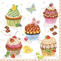 Servietten 33x33 cm - Party Cupcakes