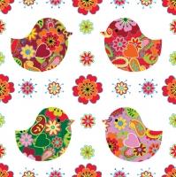 Lunch Servietten 4 Kücken mit Blumenmuster