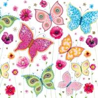 Servietten 33x33 cm - Butterflies