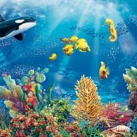 Servietten 33x33 cm - Unterwasser