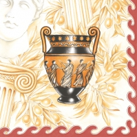 Servietten 33x33 cm - Greek Vases