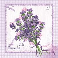 Servietten 33x33 cm - Bund Lavendel