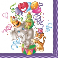 Servietten 33x33 cm - Party Animals