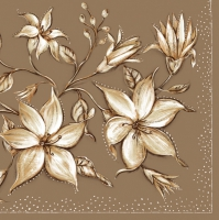Servietten 33x33 cm - Japanese Lilies Honey