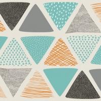 Servietten 33x33 cm - Patterned Triangels