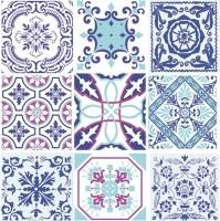 Servietten 33x33 cm - Moroccan Tiles